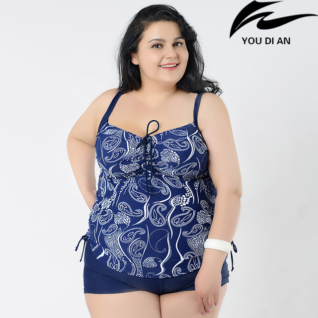 8d34d594420 Hot Plus Size Two Pieces Swimwear + Swim Pants Women Swimsuit Large Size  Russian Swimming Suit Summer Beach Wear