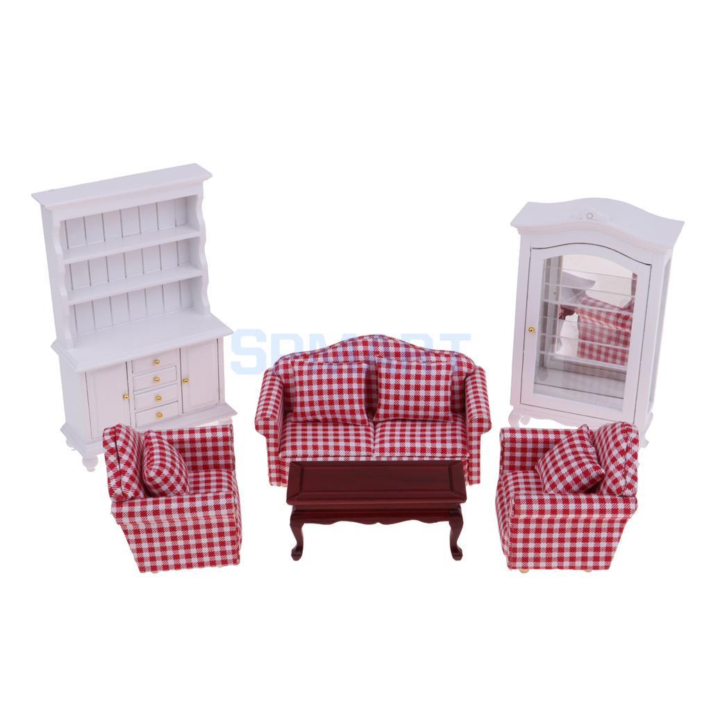 Мастерства 1/12 кукольная Миниатюра диван и стол и Дисплей кабинета и книжная полка мебель комплект 10 шт.