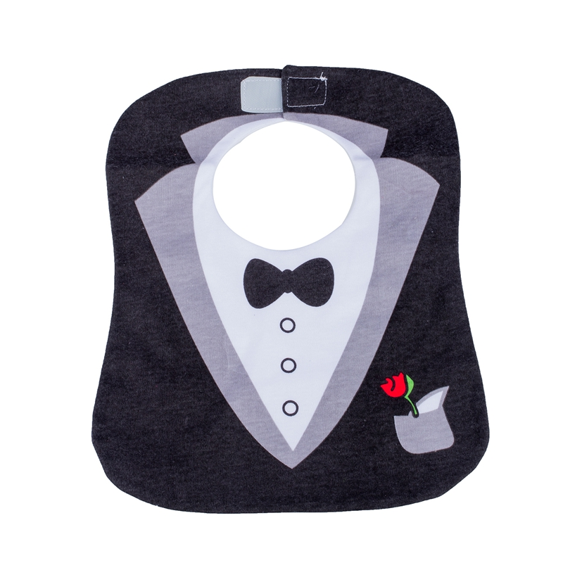 Black Cute Tuxedo Toddler Nutrition Baby Bib
