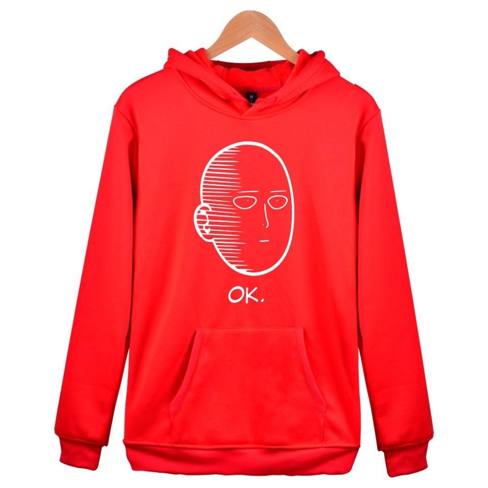 Image 5 - One Punch Man Hoodies Anime ONE Oppai Hoodies ONE PUNCH MAN Jacket Harajuku Sweatshirt US size-in Hoodies & Sweatshirts from Men's Clothing