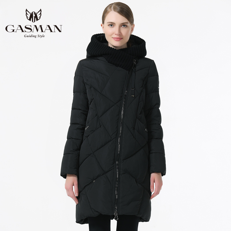 Image 3 - GASMAN 2019 New Winter Collection Brand Fashion Thick Women Winter Bio Down Jackets Hooded Women Parkas Coats Plus Size 5XL 6XL-in Parkas from Women's Clothing