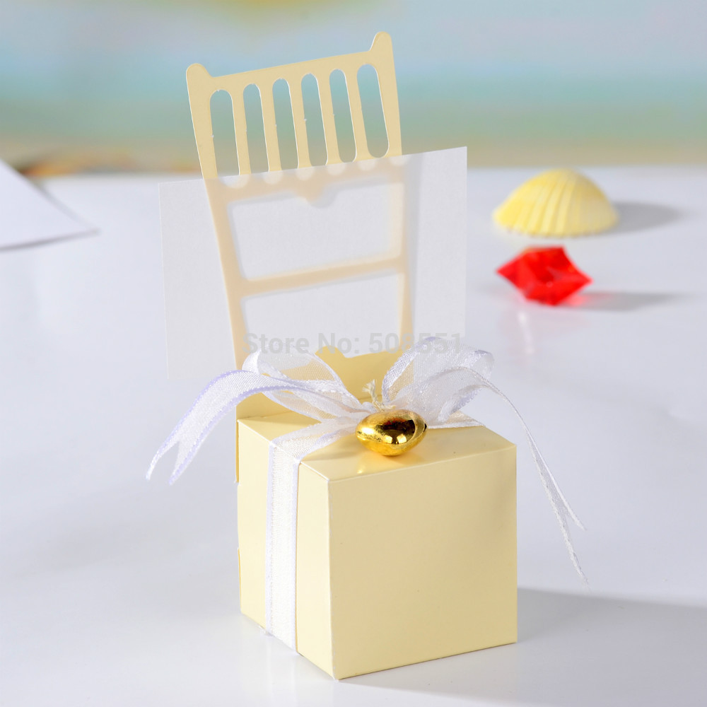 50pcs/Lot Classic Chair Style Elegant Wedding Favors Boxes/Wedding ...