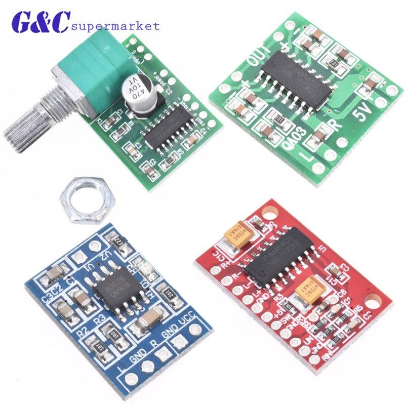 PAM8403 супер мини-цифровой усилитель доска 2*3 W класса D эффективным 2, 5 до 5 V USB с и без с коммутатором potentiomete