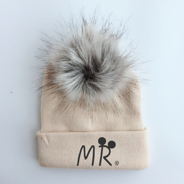53ad6c236 US $5.05 19% OFF|spring winter Toddler infant Kids children baby colorful  raccoon Faux Fur pom pom hat cap beanie for girls and boys pom beanie-in ...