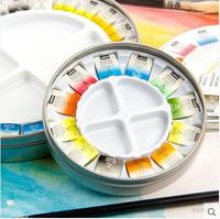 Pebeo Solid Water Color Paint 24Colors soluble watercolor pigments 24 color materials