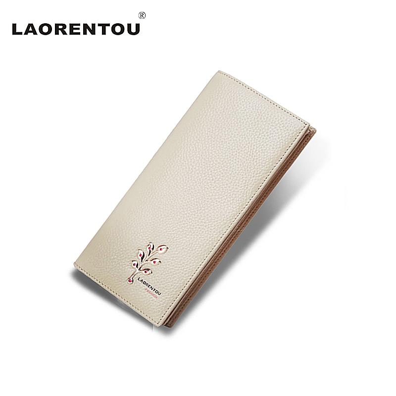 Prix pour Laorentou design exclusif arbre motif véritable cuir femmes portefeuille vache en cuir longues pour femmes lady parti portefeuille n5