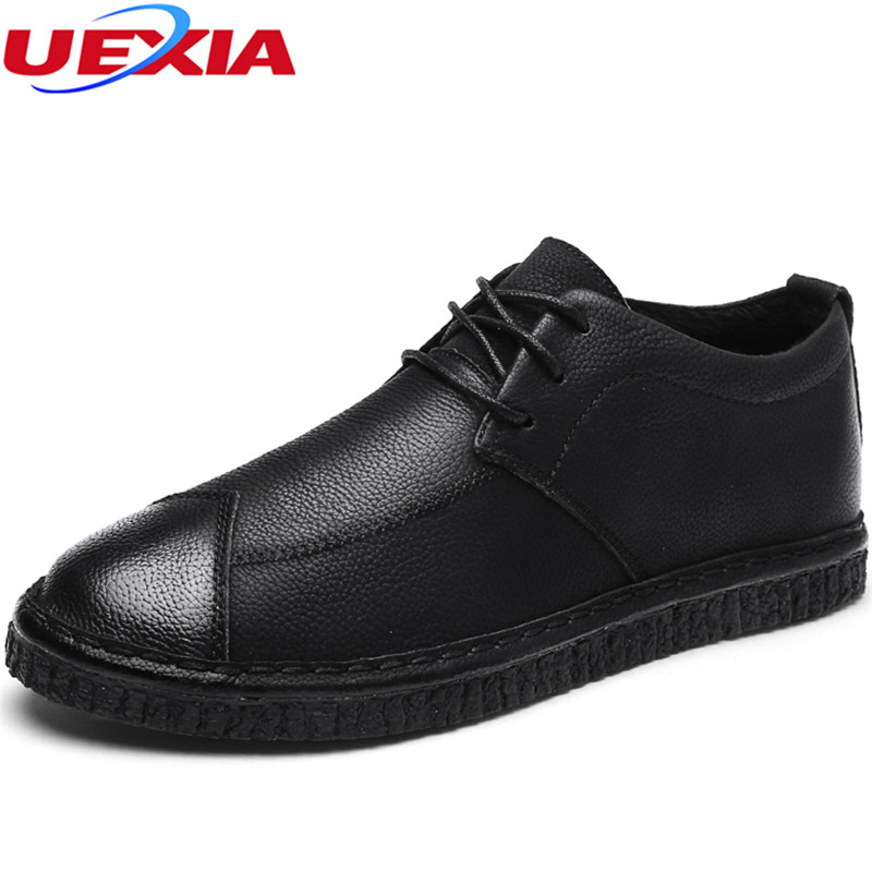 UEXIA 2018 New Men Casual Loafers Solid Leather Driving Moccasins Slip on Flats Shoe Men Formal Loafers Shoes Male Dress Zapatos branded men s penny loafes casual men s full grain leather emboss crocodile boat shoes slip on breathable moccasin driving shoes