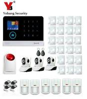 Yobang Security Android IOS APP Alarms Home Security System WIFI GSM Smart Home Motion Detector HD IP Camera Surveillance