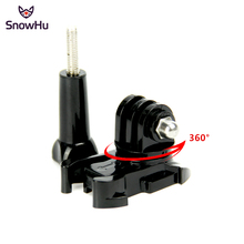 SnowHu For Gopro accessories 360 Degree Rotate  Buckle Base Vertical Surface Mount Adapter for Go Pro Hero 7 6 5 xiaomi 4K GP203