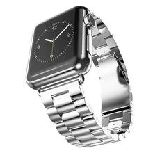 For Apple Watch 1/2/3 Stainless Steel Metal Replacement Bands with Durable Folding Clasp Connector Adaptor Size Remove(China)