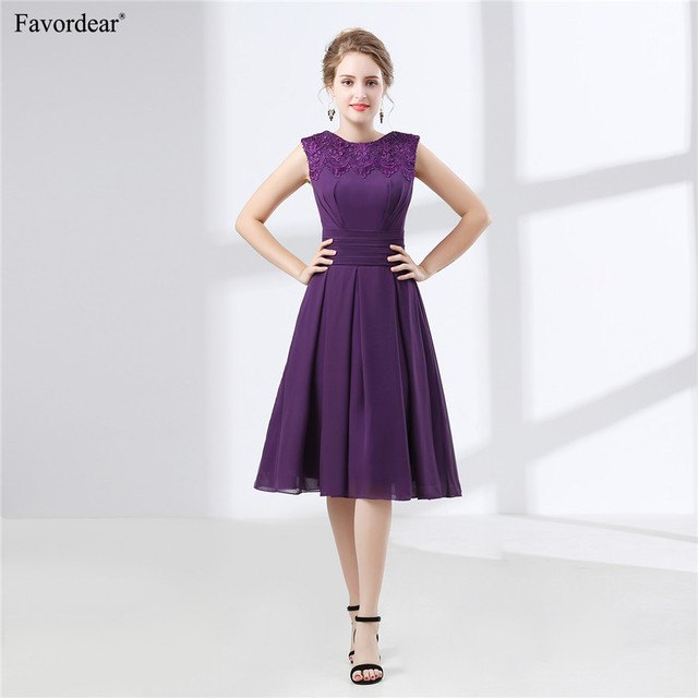 a7280ad43b29b US $75.05 |Favordear 2018 New Women's Scoop Pleat Purple Lace Short Prom  Gown-in Prom Dresses from Weddings & Events on Aliexpress.com | Alibaba  Group