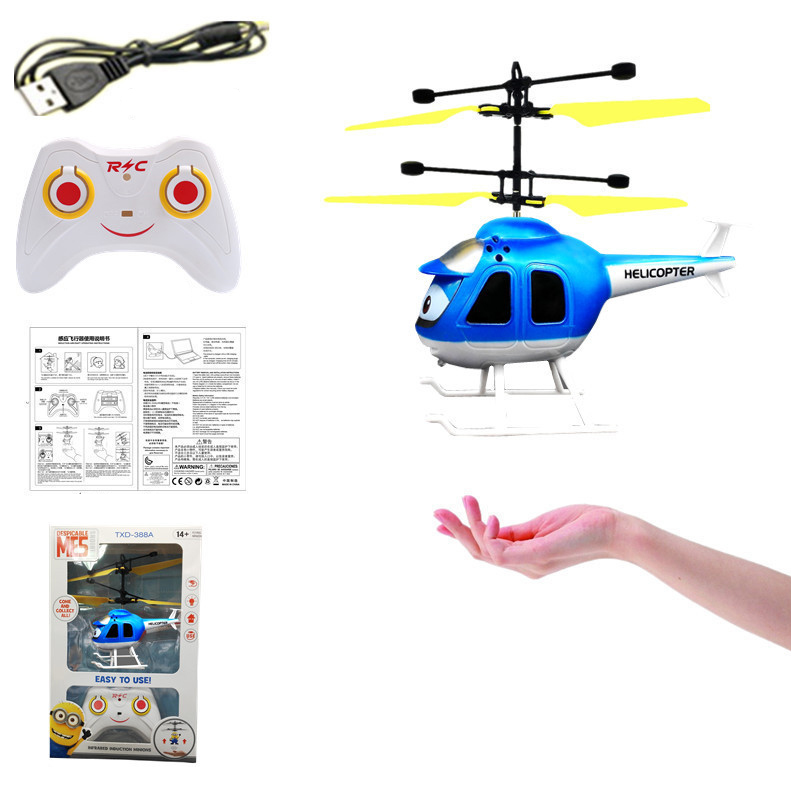 RC Helicopter toys Super plane cartoon figure Helicoptero Induction Mini flyer kids boy indoor toys Christmas birthday gifts