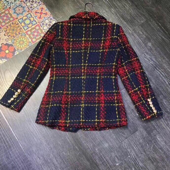 Manteau Blazers Vainqueur Tweed Nouvelle 2018 Plaid Femmes Eq8CfFwY