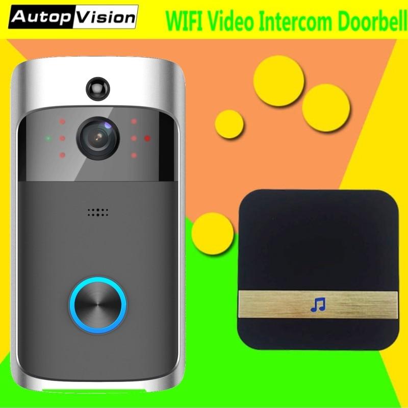 HB06 720 p HD Wi-fi Sem Fio de Vídeo Campainha Porta de Alarme de Detecção de Movimento Night Vision Two-way Audio Visual Intercom campainha Câmera