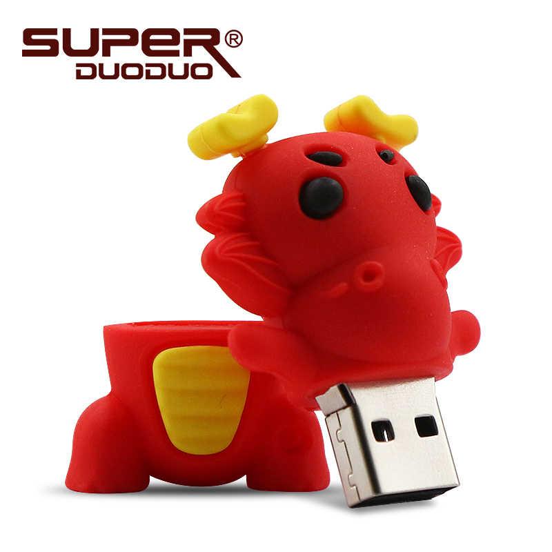 Китайский Зодиак флэш-накопитель usb животное зеленая змея/курица/кролик/лошадь/обезьяна карта памяти Флешка 8GB 16GB 32GB
