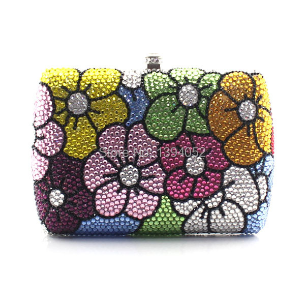 Handmade Crystal Rhinestone Trendy Ladies Evening Clutch Handbag Evening Clutch Bags Top Fashion Women Bags