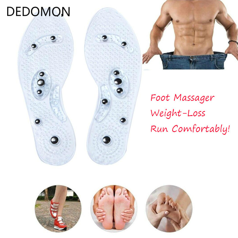 1Pair Shoe Gel Insoles Feet Magnetic Therapy Health Care for Men Comfort Pads Foot Care Relaxation Gifts(China)