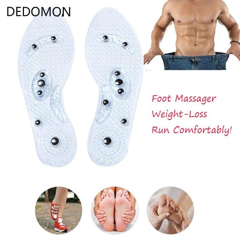 1 Paar Schuh Gel Einlegesohlen Füße Magnetische Therapie Gesundheit Pflege Für Männer Komfort Pads Fuß Pflege Entspannung Geschenke