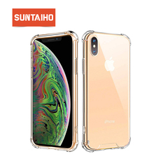 Suntaiho for iPhone XS Max Case Shockproof Ultra Thin Transparent Soft Silicone Phone Case for iPhone X XR 7 8 Cover Coque Funda