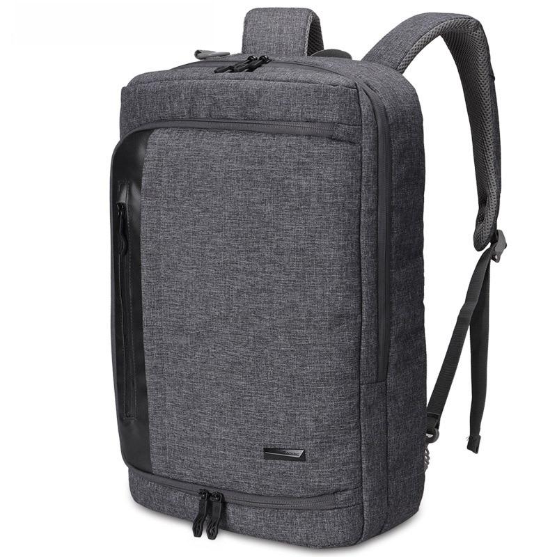 Men's backpack gray business canvas men backpack travel bag casual Designer men and women School laptop backpack high capacity