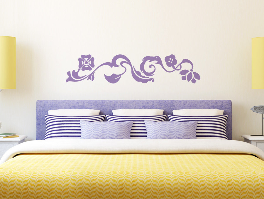 wall decals for master bedroom beautiful flower pattern wall stickers swirl view master 20083