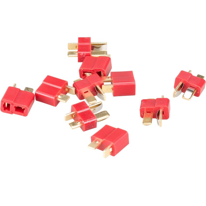 400pair/ lot with tracking number NEW DEANS STYLE T PLUG NYLON T-CONNECTOR Golden T plug T-Plug For RC helicopter rc cars 20%