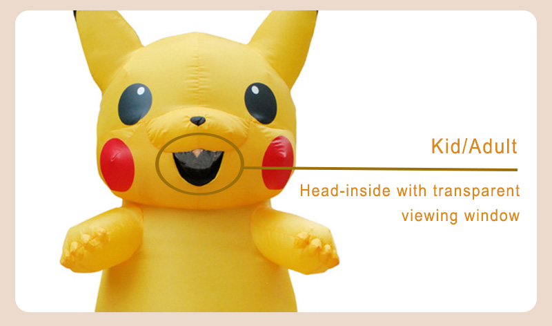 Inflatable Pikachu Costume -4