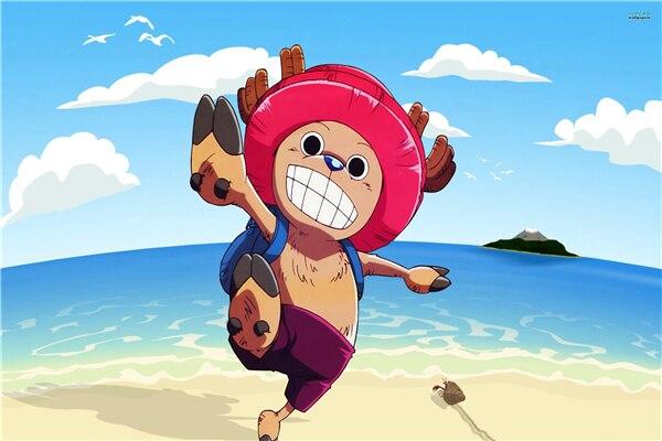 Custom Canvas Art One Piece Figure Poster One Piece Anime Wall