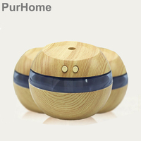 USB Air Humidifier 300ML Ultrasonic Mist Maker Diffuser Aromatherapy Electric Mini Air Diffuser Wood Grain For