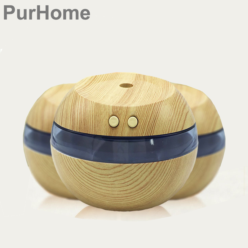 USB Air Humidifier 300ML Ultrasonic mist maker diffuser aromatherapy electric Mini Air Diffuser Wood Grain for Home/Car/Office home car dual use mini usb vehicle aromatherapy humidifier ultrasonic air water supply instrument atomizer