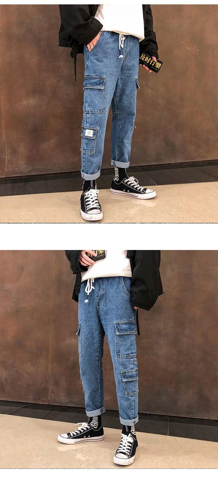 jeans preto azul cor biker denim calças