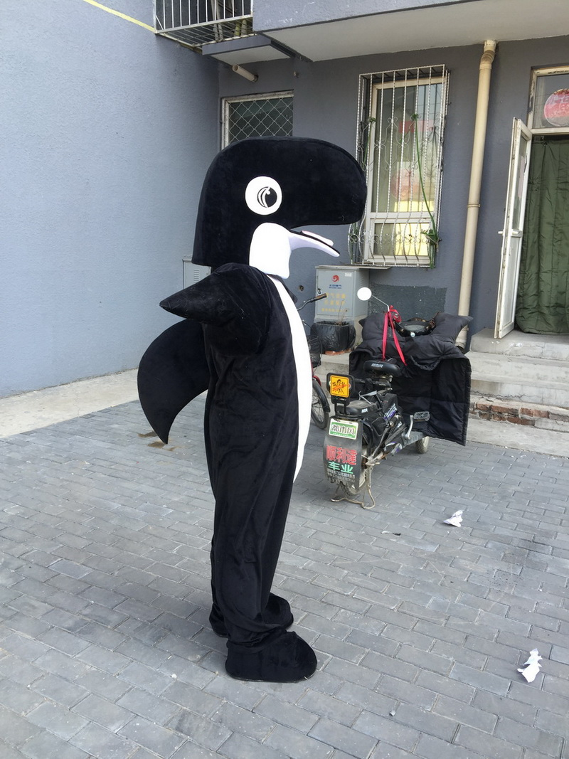 Black Shark Dolphin Mascot Costume Mascot Costumes For Adults Christmas Halloween Outfit Fancy Dress Suit Free Shipping -in Mascot from Novelty u0026 Special ... & Black Shark Dolphin Mascot Costume Mascot Costumes For Adults ...