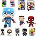 10CM Funko Pop Civil War Figures Superman VS Batman Dark Knight Wonder Woman Figurines The Hulk Thor Black Panther Vinyl Toys