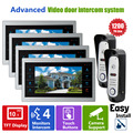 Homefong 10 Inch  2 Video Door Phone  Doorbell 4 LCD Monitor  IR Camera Night View SD card (Not Included) 2V2