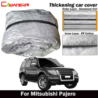 Cawanerl Thick Cotton Car Cover Waterproof Outdoor Sun Shade Rain Snow Hail Resistant SUV Cover For Mitsubishi Pajero