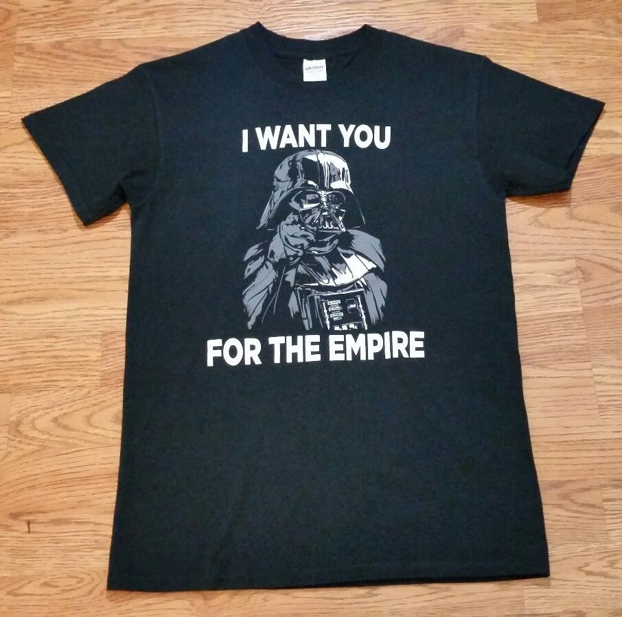 Star Wars Darth Vader t-shirt (S) Black / I WANT YOU FOR THE EMPIRE Free shipping