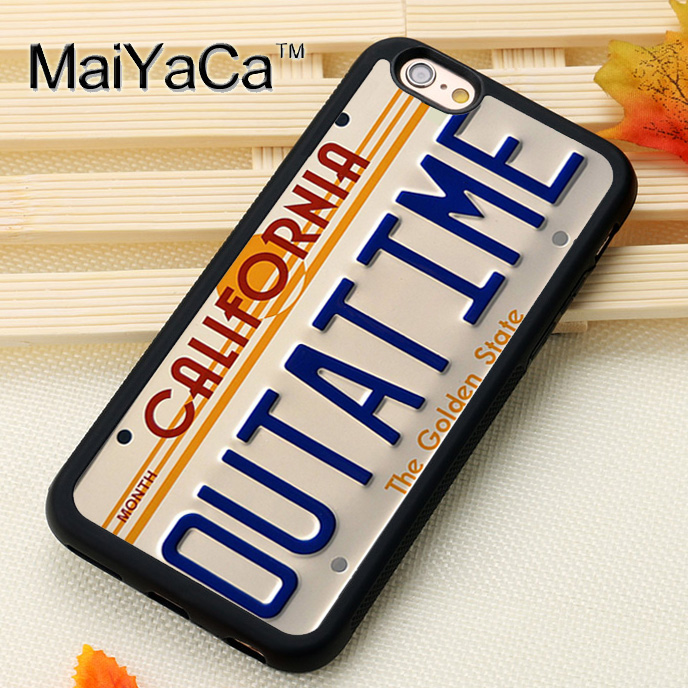 MaiYaCa Outatime License Plate Fitted Mobile Phone Case For iPhone 6S 7 8 Plus X XS MAX XR SE Soft Rubber Capa Funda Coque