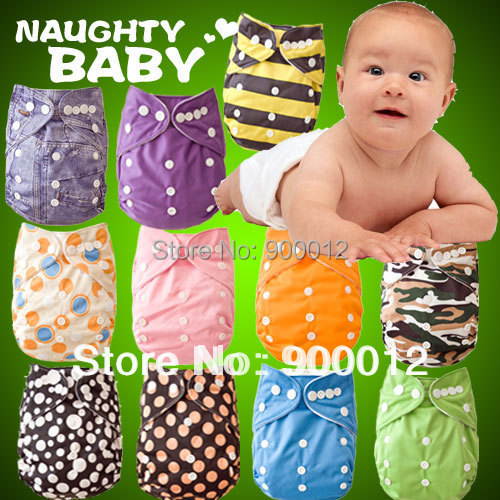 Free Shipping Naughtybaby Adjustable Waterproof Cloth Diapers Urine Nappies Pocket diaper cover 20 Sets