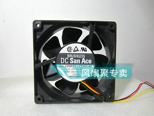 Original Sanyo 109R1212T1H142 12cm 120*120*38MM 12V 0.48A 3 wire cooling fan original sanyo 9g1212e1d011 12cm 12038 12v 0 61a 3 wires alarm signal cooling fan