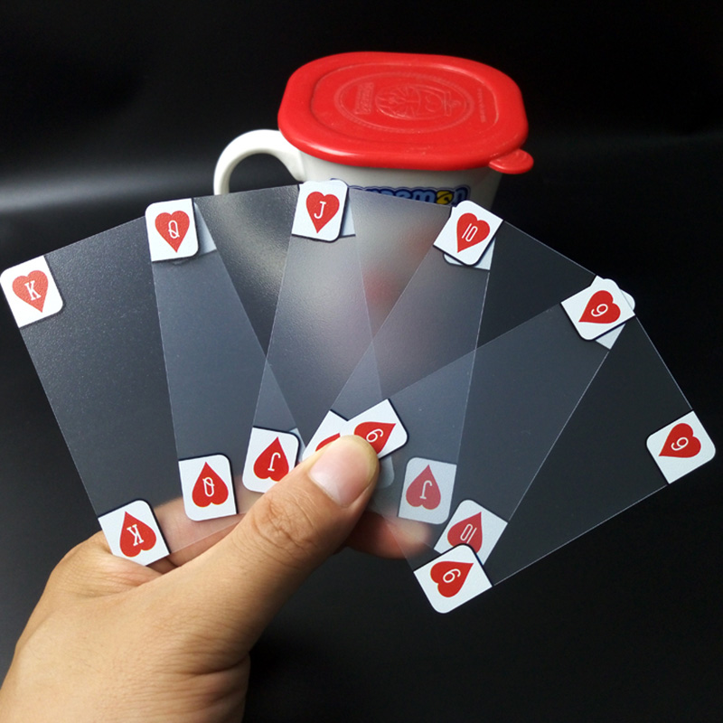 Transparent Cards Frosted Waterproof Plastic Playing Cards For Gift/Party/Family Game Magic Poker