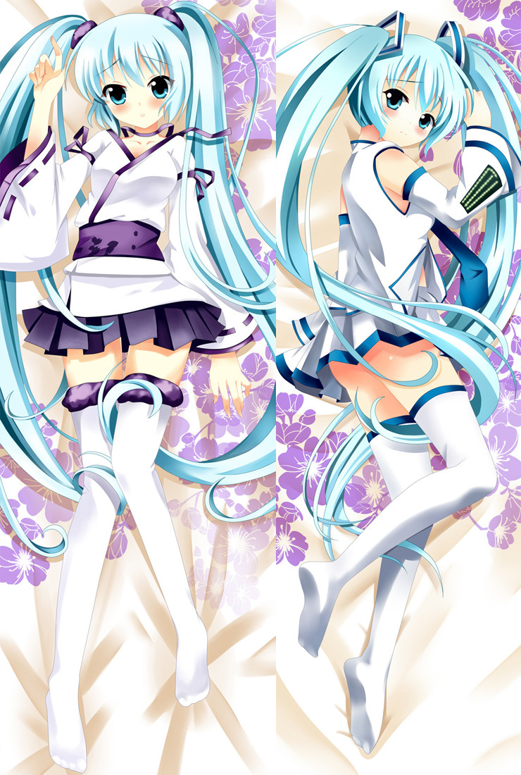 "150x50cm Hatsune Miku Music Girl Anime Dakimakura PillowCase Hug Body Cover 59/"""