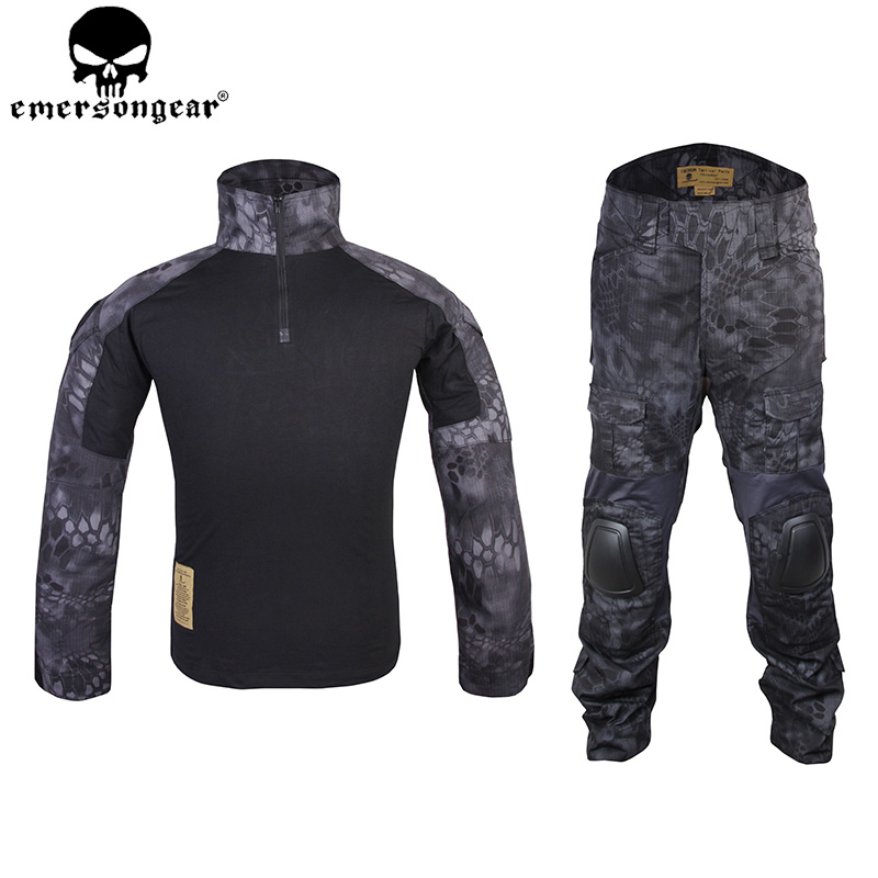 EMERSONGEAR Gen2 BDU Tactical Combat Uniform Tactical Shirt Pants with Elbow Knee Pads Airsoft Outdoor Hunting Suit TYP EM6927 emersongear g3 combat shirt pants military bdu army airsoft tactical gear paintball hunting uniform bdu atacs au emerson