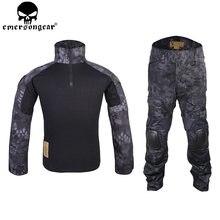 EMERSONGEAR Gen2 BDU Taktische Kampf Uniform Taktische Hemd Hosen mit Knie Ellenbogen Pads Airsoft Outdoor Jagd Anzug TYP EM6927