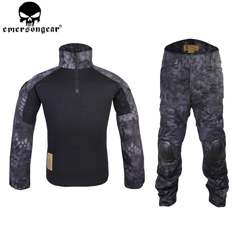 Emersongear Gen2 БДУ Тактический Бой форма Тактический рубашка Брюки для девочек с Локоть Наколенники Airsoft Открытый Охота костюм Тип em6927