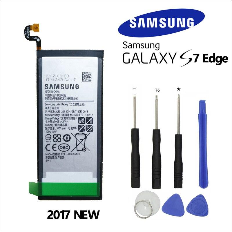 100% Original Batterie Für Samsung GALAXY S7 Rand EB-BG935ABE G9350 G935FD SM-G935F SM-G935P G935P G935F 3600 mah