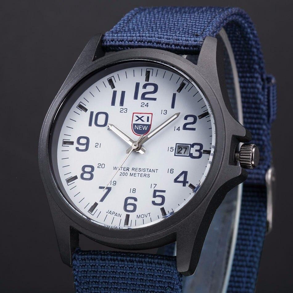 Fantastyczny xinew luksusowe boisko sportowe mężczyzna zegarka kalendarz data mens steel analogowe kwarcowy zegarek wojskowy erkek relogioi kol saat 16