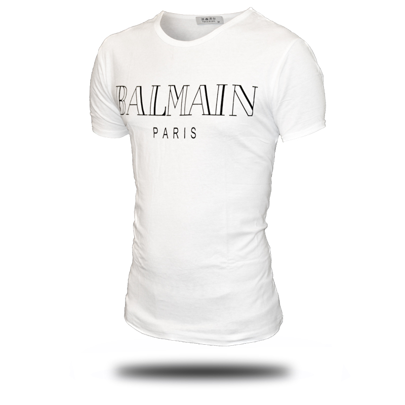 balmain shirt Amazon Quality Drop Shipping 2016 T Shirt Men Brand O Neck Short Sleeve T  Shirt European Fashion Tee Shirt Men T-shirt