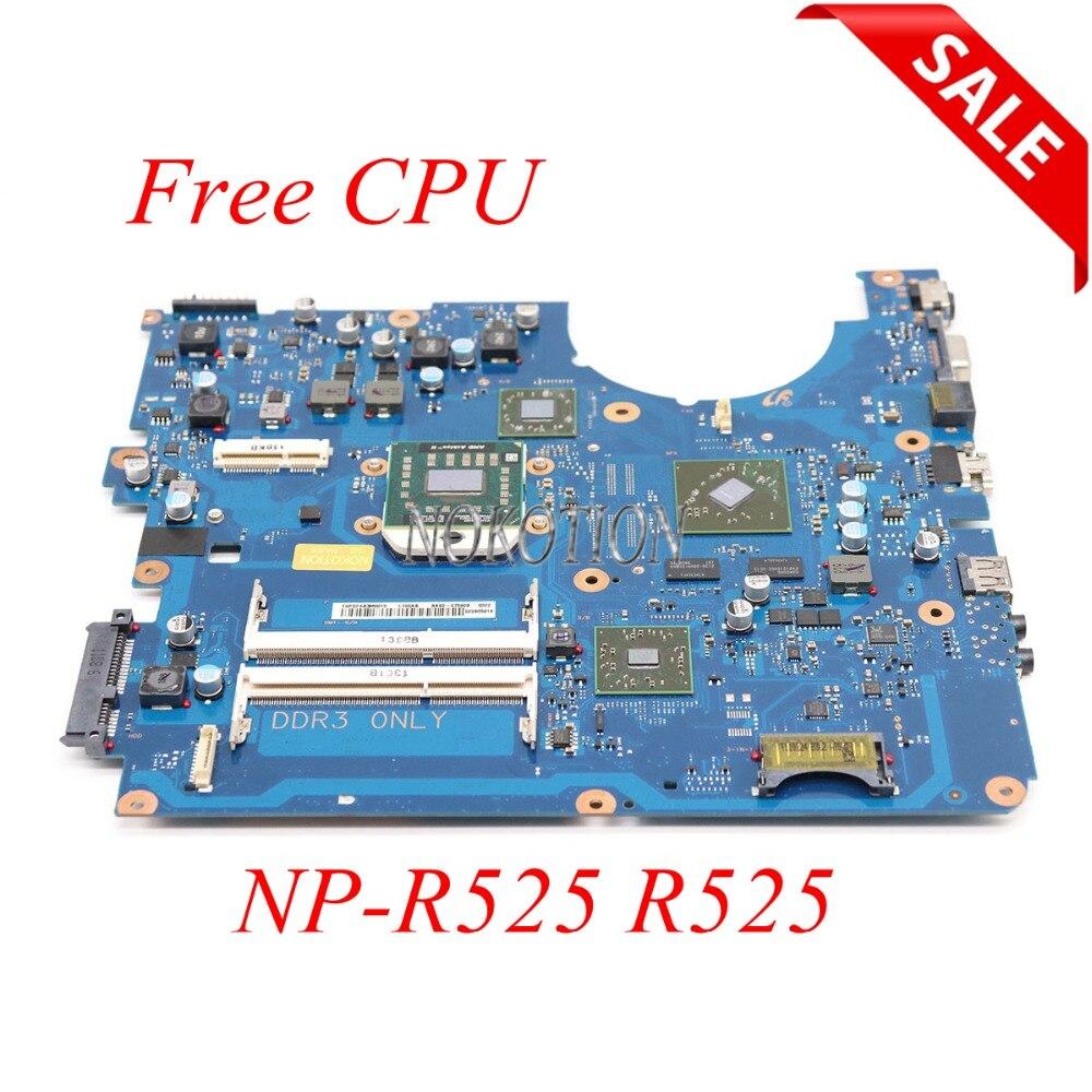 NOKOTION BA92-07590B BA92-07590A BA41-01572A Laptop motherboard For samsung NP-R525 R525 HD7400M DDR3 only Main board free cpu motherboard for samsung r530 r528 main board ba92 06346a ba92 06346b ba41 01227a pm45 ddr3 free cpu gt310m gpu