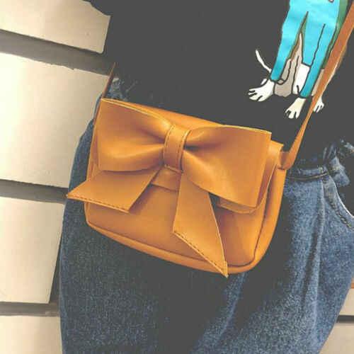 Gadis Lucu Ikatan Simpul Kulit Tas Tangan Mini Tas Bahu Tas Sekolah Anak Selempang