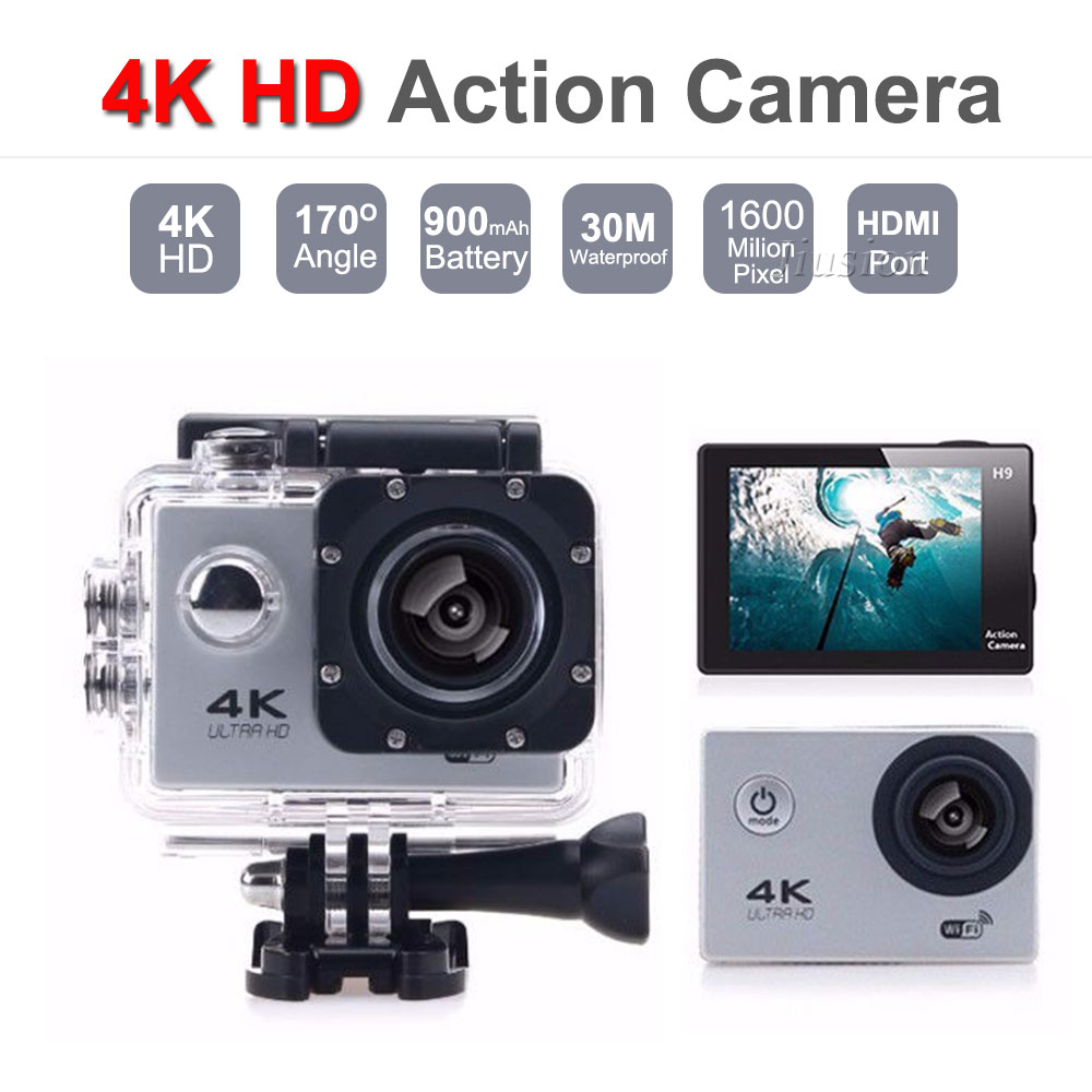4K HD 1080P Wifi Mini Action Camera 30M Waterproof 2 0 Screen Portable Micro Camcorder Video